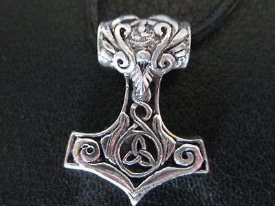 Thor s Hammer 925'er Silber klein + Geschenkbox + Band Anhänger / KA 094