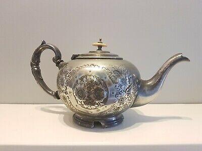 Vintage/Antique Silver Plate Teapot J T & Co S D.H.McKeller Jeweller