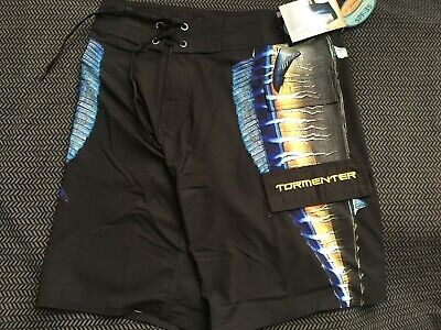 """Tormenter Men's """"Side To"""" 8X4 Stretch Board Shorts Sz 30 MSRP $60 Wahoo Black for sale  Shipping to Canada"""
