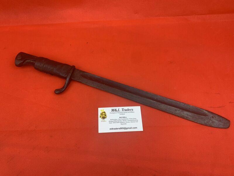 Original WWI German Butcher Bayonet Rifle Unit Marked