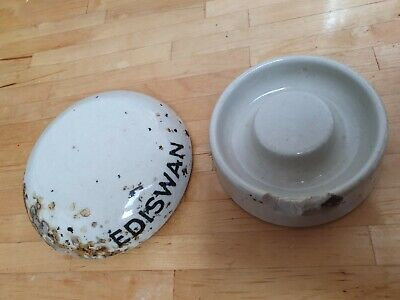 Ediswan ceramic powerline conductor - electricity vintage rare collectable