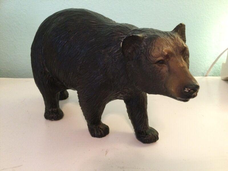 Large Plastic Black Bear Figure