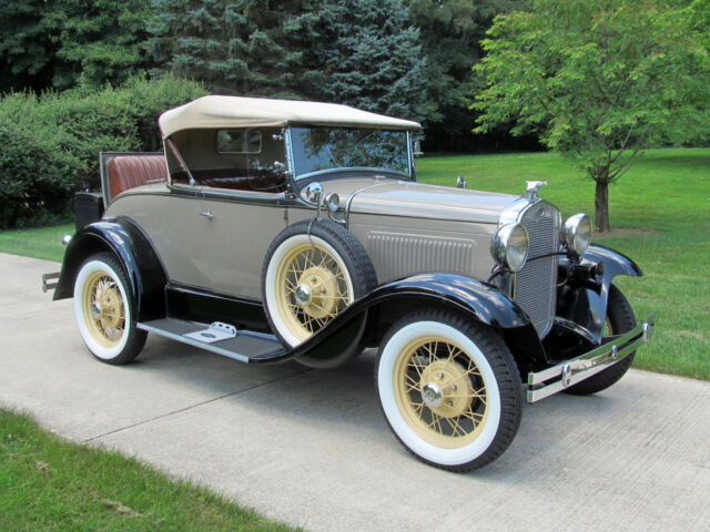 Ford : Model A Deluxe 1931 ford model a deluxe roadster convertible with rumble seat no reserve