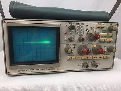Tektronix 434 Storage Dual-channel Oscilloscope With Instruction Manuals Pickup