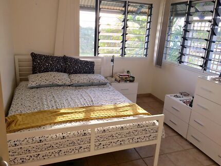 Queen size bed (mattress and frame) for sale