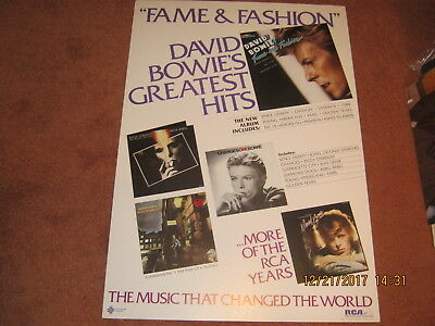 David Bowie Fame and Fashion Record Store promo display RARE 1984 RCA  MINT COND