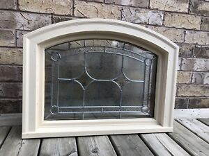 Solid wood stained glass window insert