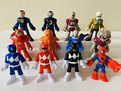 Fisher Price Imaginext Lot Of 12 Figures Knights Power Rangers Spiderman