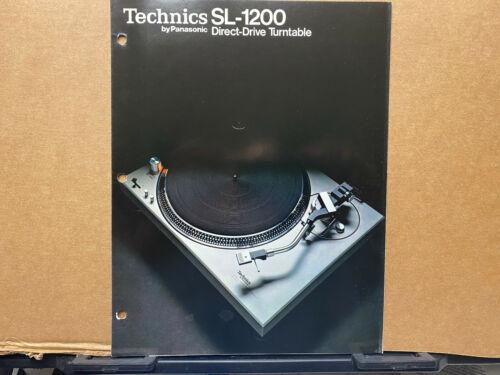 Vtg Technics by Panasonic Brochure ~ SL-1200 Turntable 1970s Original