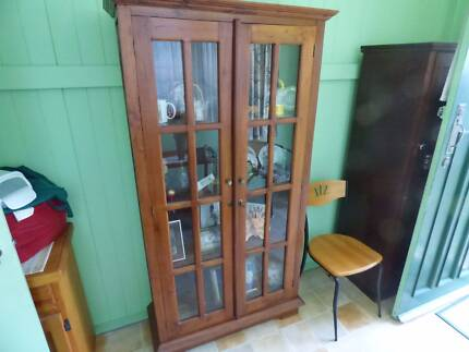 Modern Timber & Glass Display Cabinet ... lovely condition Bardon Brisbane North West Preview