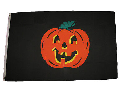 3X5 Pumpkin Flag 3'x5' Halloween Jack O'lantern Decoration B
