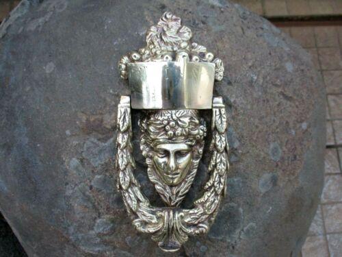Architectural Vintage Hardware Solid Brass Large Door Knocker Handle Lady Shape