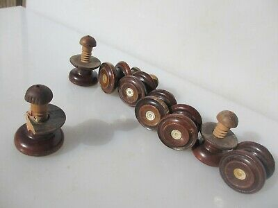 Vintage Wooden Dresser Knobs Handles Pulls Hardware Antique Chest of Drawers x8