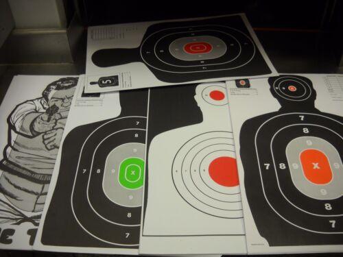 125  Bulk Pack Silhouette hand gun, rifle paper shooting targets 12x18