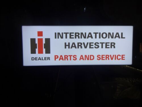 "International Harvester Dealer ""Parts and Service"" Lighted Sign"