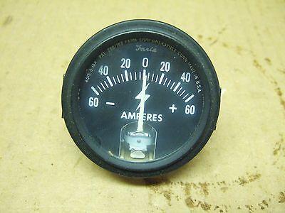 Genuine Faria Ammeter 0-60 Amp Alternator Farmall Ih Case Universal Oliver