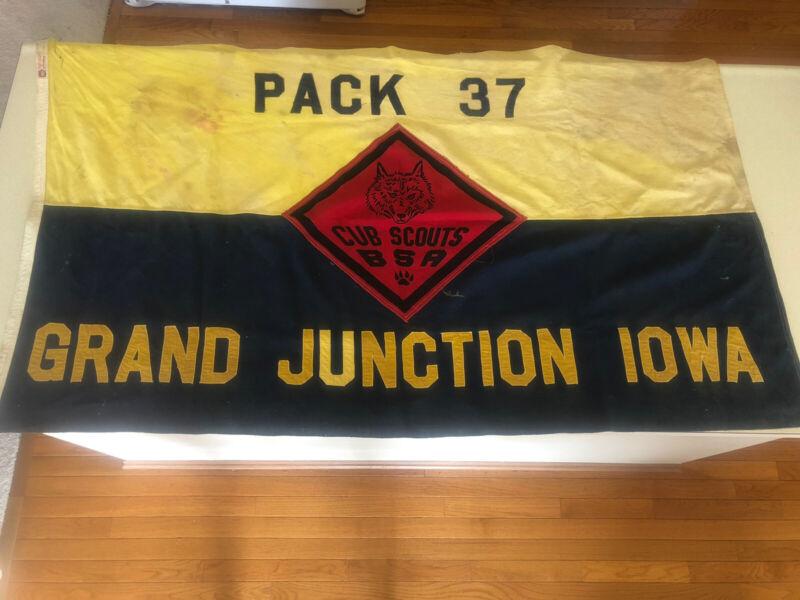 Vintage Boy Scouts Cub Scouts BSA Pack 37 Grand Junction Iowa Service Flag