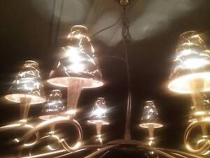Gold leaf and Glass shade light 80cm Wembley Cambridge Area Preview