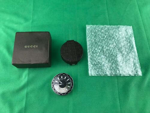 GUCCI Travel Clock Leather Case