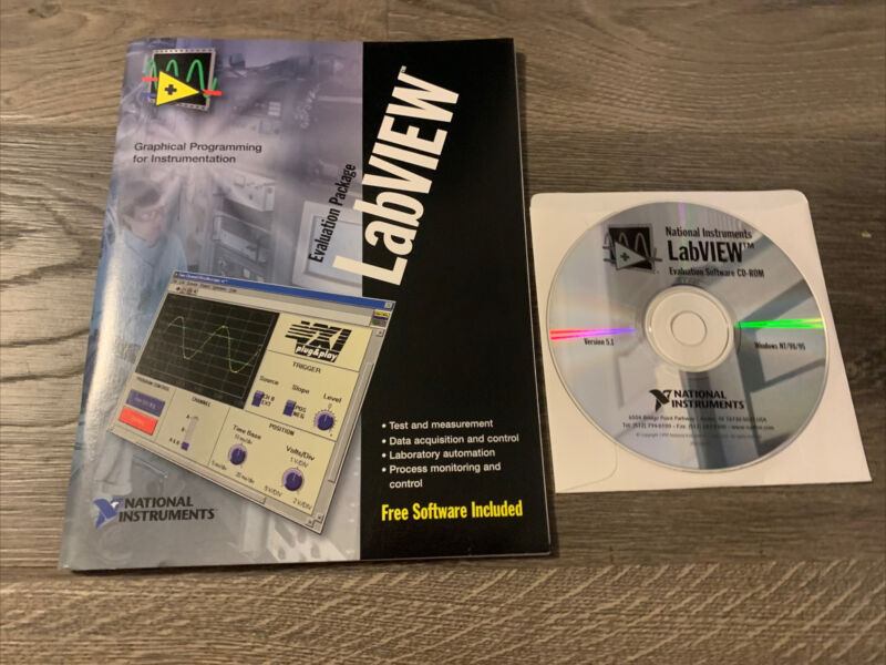 National Instruments LabVIEW Evaluation Package with Software Version 5.1