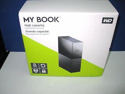"WD Western Digital My Book 3.5"" 8TB External Hard Disk Drive NEW SEALED mac pc"