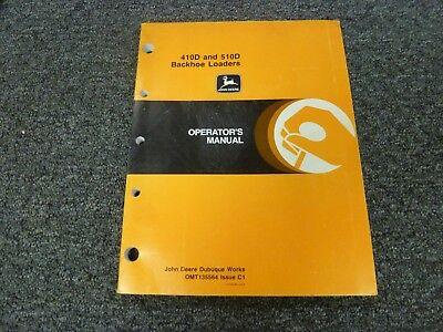 John Deere 410d 510d Backhoe Loader Owner Operator Maintenance Manual Omt135564