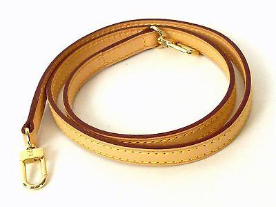 100% Authentic LOUIS VUITTON Leather Shoulder Strap Brown Excellent M941