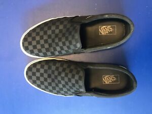 Vans black checkered shoes