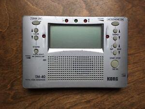 Korg TM-40 Accordeur(Tuner)+Metronome
