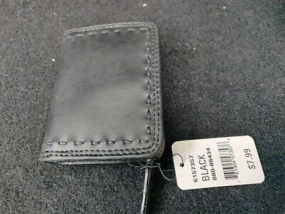 Card Black Faux Leather - NorthCrest Black Faux Leather Bifold Wallet Card coin purse key ring New w/tags