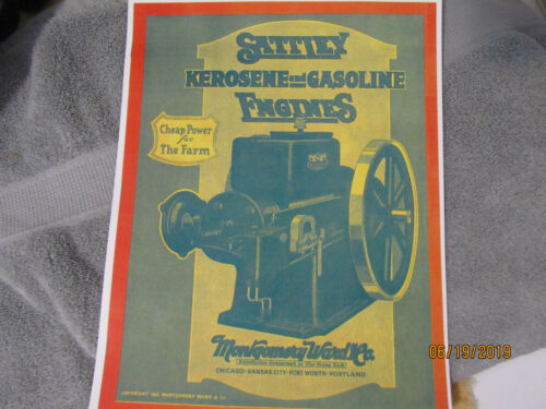 Montgomery Ward Co Sattley Gasoline Engines Catalog, all sizes