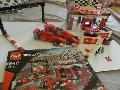 LEGO RACERS 8672 FERRARI FINISH LINE bundle job lot