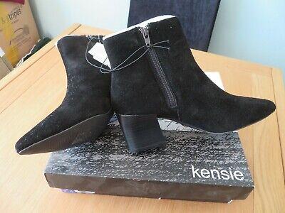 LADIES NEW KENSIE BLACK HEELED CHELSEA BOOTS - UK 4.5