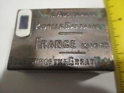 WWI World War One 5th Australian Pioneer Battalion enamel match case Great War