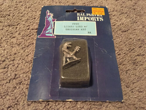 Sealed Ral Partha Imports Lizard Lord w/Obsidian Axe Metal Figures FF80