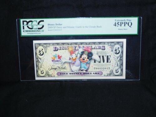 2009 DISNEY DOLLARS> MINNIE AND DAISY $5 Five Dollar > GRADED BY PCGS > 45PPQ