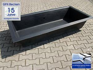 GFK-Becken Wasserbecken Rechteckbecken ca. 90 ltr   80x60x35cm 15 Jahre Garantie
