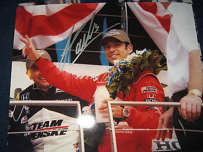 BRAZIL HELIO CASTRONEVES INDY RACING DWTS Signed Autographed 8x10 PROOF & COA 1