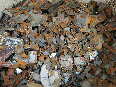 Lot Of Misc Scrap Shapes Rusty Vintage Metal Craft Sign .25 - 2 Diy Pieces