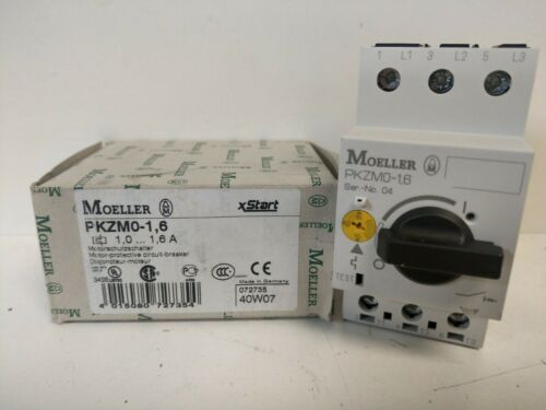 NEW OLD STOCK! EATON MOELLER MANUAL MOTOR STARTER PKZM0-1,6