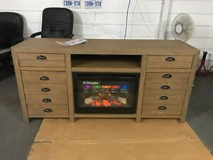 Fireplace tv media unit