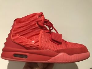 """Used Authentic NIKE AIR YEEZY 2 SP """"RED OCTOBER"""" Shoes"""
