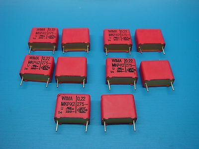 10 Wima Mkpx2.2227520 Pcm15 0.22uf 275v 20 Polypropylene Capacitor Low Esr