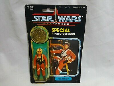g Fighter Pilot w/ Coin 1984 Star Wars Power of the Force (X Wing Fighter Pilot)