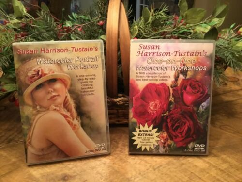 DVD SUSAN HARRISON-TUSTAIN'S WATERCOLOR 2 sets price for 1 total 4 DVD's 2 sets