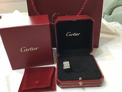 100% authentic Cartier 18k white gold  love ring 11mm  size 54.
