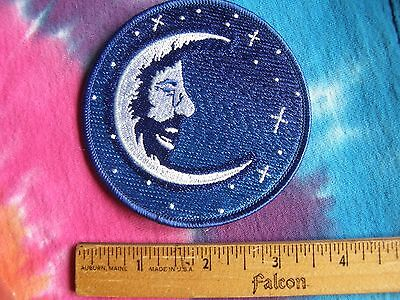 Grateful Dead Jerry Garcia Moon Face 3.5 Inch Iron On Patch