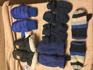 Big lot of toddler mittens and hats 6-18 months