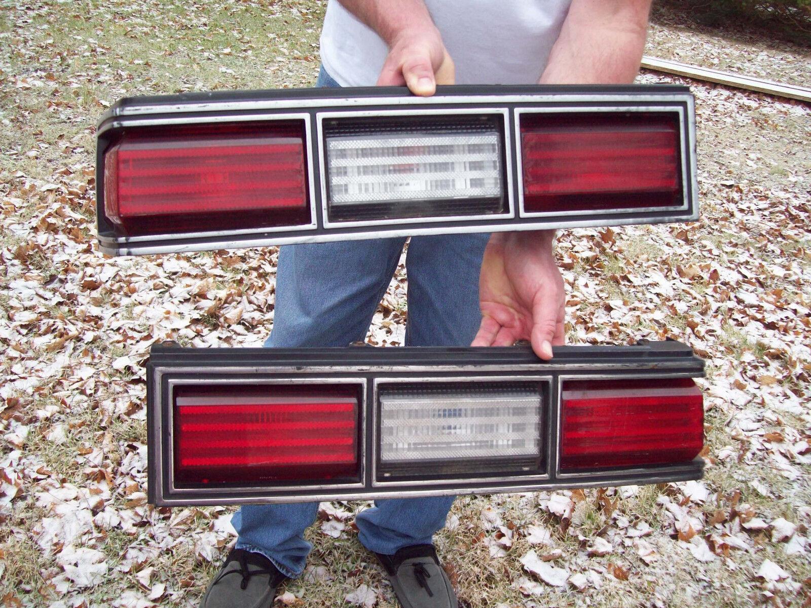 original equipment 1978-1983 chevrolet malibu stop tail lights pair w/housings