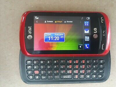 LG Xpression C395 - Red Black AT&T GSM 3G Qwerty Keyboard Touch Cell Phone